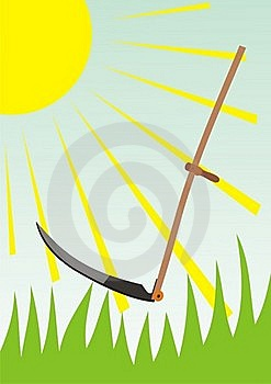 The Old Scythe. Royalty Free Stock Images - Image: 20351349