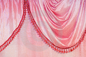 Pink Curtain Detail Stock Image - Image: 20353141