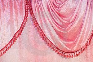 Pink Curtain Detail Stock Image - Image: 20353141