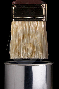 Paintbrush And Can Royalty Free Stock Image - Image: 20355856