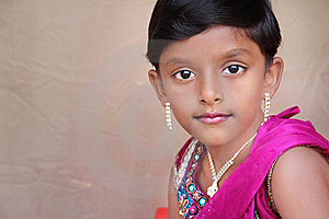 Indian Little Girl Posing To Camera Stock Photo - Image: 20356210