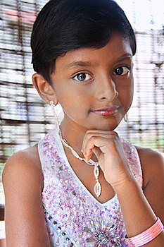 Portrait Of Indian Little Girl Stock Images - Image: 20356274