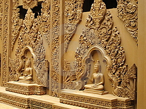 Buddha Statues On The Wall Stock Photography - Image: 20356472