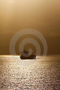 Shipping - Cargo Oil Tanker Ship At Dawn Stock Images - Image: 20357004