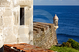 San Juan - Fort San Cristobal Look Out Royalty Free Stock Photography - Image: 20357057