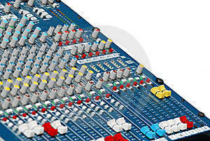 Audio Mixing Board Sliders Royalty Free Stock Image - Image: 20358076