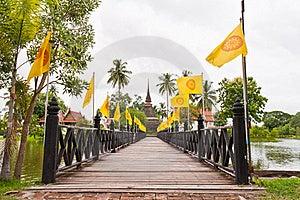 Wooden Bridge To Ruin Pagoda Royalty Free Stock Image - Image: 20360366
