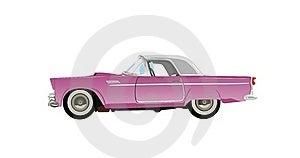 Automóvil Clásico Rosado Foto de archivo libre de regalías - Imagen: 20360625