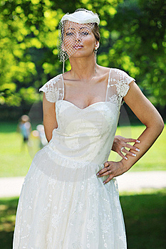 Beautiful Bride Outdoor Stock Images - Image: 20361594