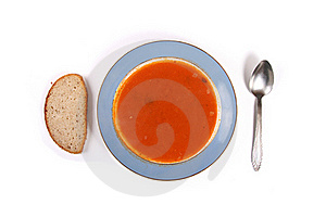 Plate With Soup Stock Image - Image: 20361841