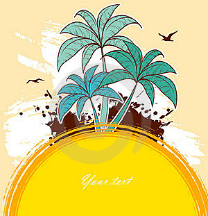 Tropic Back With Palms Stock Images - Image: 20362124