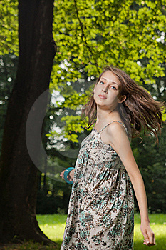 Young Student Dancing On The Clearing Stock Photos - Image: 20362943