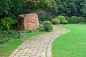 Stone Footpath Royalty Free Stock Photography - Image: 20366037