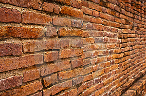 Laterite Brick Wall Tilted Out Close Up Royalty Free Stock Image - Image: 20369056