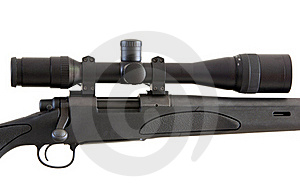 Sniper Rifle Isolated On White Royalty Free Stock Photos - Image: 20369358