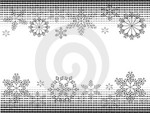 Christmas Banners BW Royalty Free Stock Photo - Image: 20370105