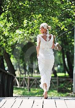 Beautiful Bride Outdoor Stock Photography - Image: 20370272