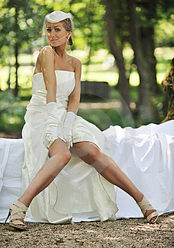 Beautiful Bride Outdoor Royalty Free Stock Photography - Image: 20370657