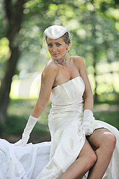 Beautiful Bride Outdoor Stock Photography - Image: 20370822