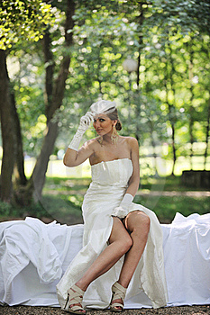Beautiful Bride Outdoor Stock Photography - Image: 20371092