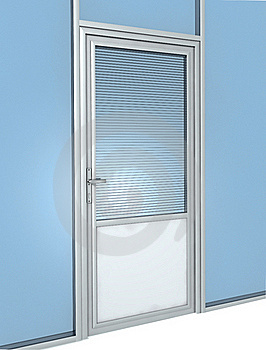 Office Door Construction Royalty Free Stock Image - Image: 20371116