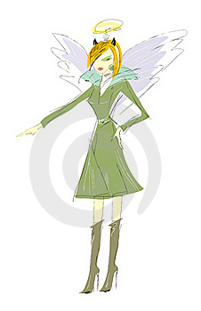 Angel-demon Royalty Free Stock Photo - Image: 20373215