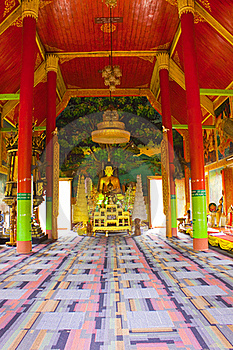 Interior Of Buddhism Church,Wat Don Kaew Stock Photography - Image: 20373302