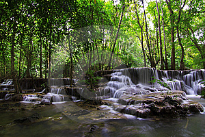Huay Mae Ka Min Waterfall Royalty Free Stock Photography - Image: 20374527