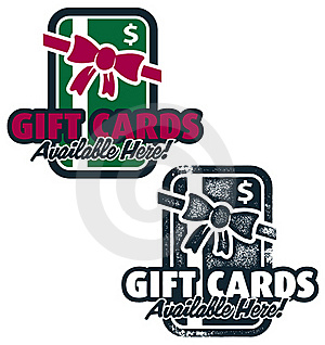 Gift Cards Available Here Stock Photography - Image: 20374882