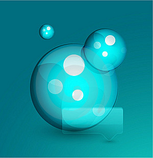 Blue Bubble. Vector Abstract Background Stock Images - Image: 20375014