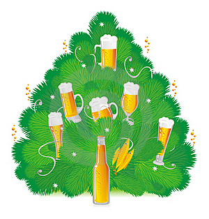 New Year's Beer Royalty Free Stock Image - Image: 20375066