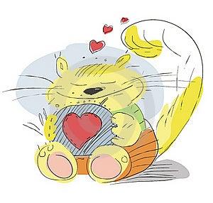 Enamoured Cat Stock Image - Image: 20375841