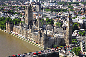 House Of Parliament With Big Ben Tower In London Royalty Free Stock Images - Image: 20376249