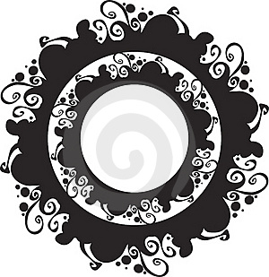 Ornate Abstract Silhouette Stock Image - Image: 20376471