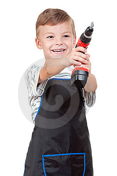 Boy With Tools Royalty Free Stock Photo - Image: 20380465