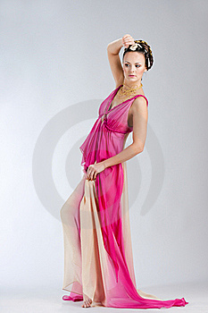Woman In Venice Style Dress Stock Images - Image: 20381364