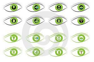 Eco Eyes Royalty Free Stock Image - Image: 20382106