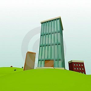 Cartoon Town Stock Images - Image: 20382814