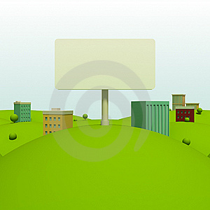 Cartoon Town Royalty Free Stock Photography - Image: 20382857