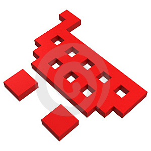 3d Basket Pixel Icon Stock Photo - Image: 20382880