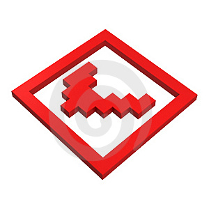 3d Checkbox Pixel Icon Royalty Free Stock Photography - Image: 20382957