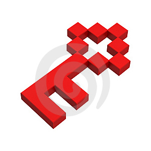 3d Key Pixel Icon Royalty Free Stock Photography - Image: 20382967