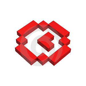 3d Clock Pixel Icon Royalty Free Stock Photos - Image: 20382968