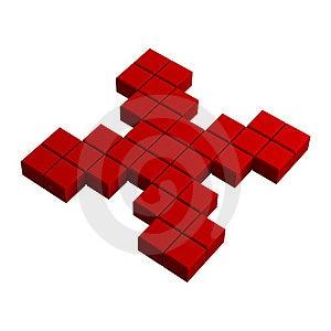 3d Delete Pixel Icon Royalty Free Stock Photos - Image: 20383058