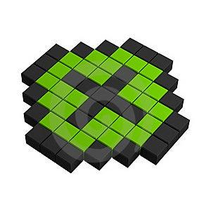 3d Plus Pixel Icon Stock Photo - Image: 20383060