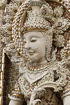 Buddha Statue In Thai Style Molding Art. Stock Images - Image: 20383554
