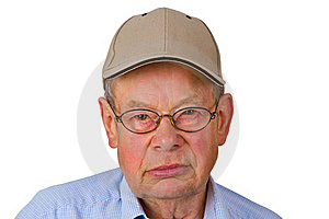 Male Senior With Cap Stock Image - Image: 20383581