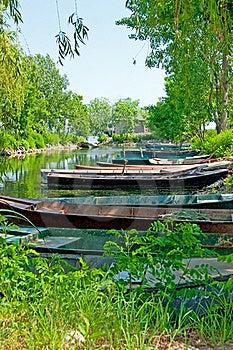 Anchored Boats Stock Photo - Image: 20384810