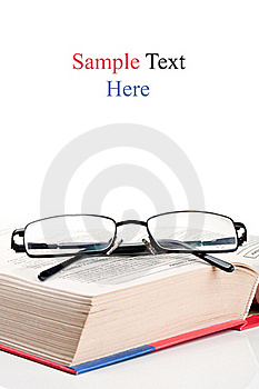 Big Encyclopedia Book And Eyeglasses Stock Photo - Image: 20385880