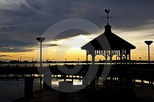 Pavilion During Sunset Stock Photo - Image: 20385920